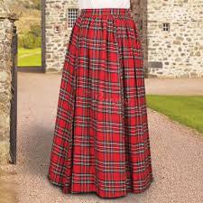 full length scottish plaid skirt