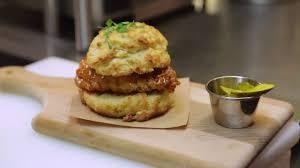recipe lemonade brined fried chicken biscuit with spicy maple