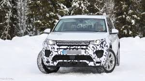 land rover mitsubishi land rover discovery sport spied with modified front bumper