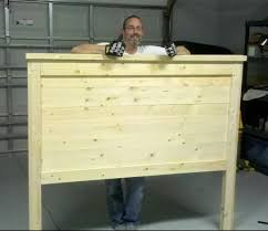 homemade king size headboard good diy making a custom bed frame