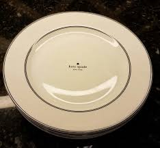 lenox kate spade nag s 4 large dinner plates with tags ebay