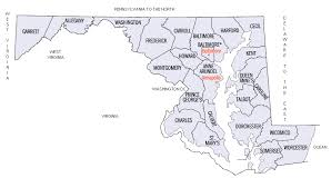maryland map county map