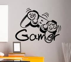 popular wall art gamers buy cheap wall art gamers lots from china free shipping game controller gamer zone wall art sticker decal home diy decoration wall mural removable
