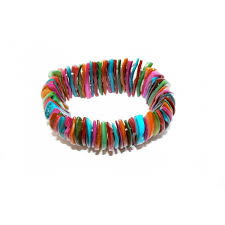 multi pearl bracelet images Coloured rainbow mother of pearl bracelet jpg