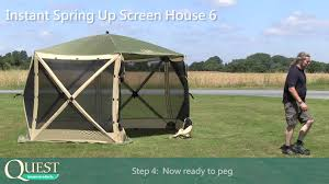 Quest Pop Up Canopy notcutts quest instant springup gazebo youtube