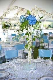 hydrangea wedding centerpieces hydrangea wedding centerpiece blue green ivory