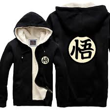 new fashion warm thick winter cardigan dragon ball anime jacket