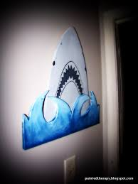 a boy u0027s shark bedroom for shark week hometalk