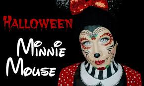 halloween minnie mouse makeup tutorial face painting youtube