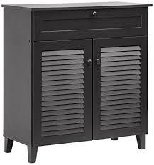 amazon shoe storage cabinet amazon com baxton studio calvin shoe storage cabinet espresso