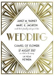 art deco wedding invitation free printable wedding invitations