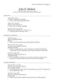 Undergraduate Sample Resume by Medical Cv Template Resume Sample Cv Of Hr Executive Resume