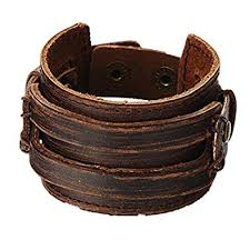 bracelet leather mens images Mulba antique men 39 s brown leather cuff bracelet leather wrist jpg