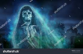 la llorona mexican scary ghost floating stock illustration