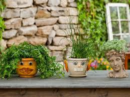 decorative planters put a face on your garden pots how tos diy