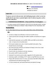 Shidduch Resume Sample by Rf Optimization Engineer Resume Docx