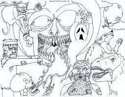 printable halloween colouring pages 1 scary monster coloring
