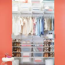 White Elfa Chic Reach In Closet The Container Store