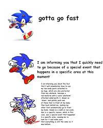 Sonic Gotta Go Fast Meme - sonic verbose meme by dastadda on deviantart