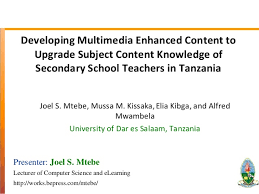 developing multimedia enhanced content to upgrade subject content kno