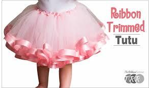 how to make a ribbon trimmed tutu theribbonretreat com youtube