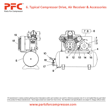 05 06 compressor drive air receiver and accessories for 15t ir