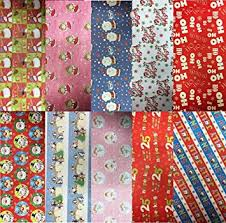 thick christmas wrapping paper 10 assorted sheets thick christmas gift wrapping paper