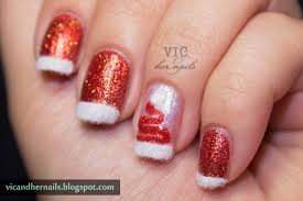 vic and her nails december n a i l theme 4 festive french