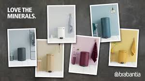 Brabantia Bathroom Accessories Sense Of Luxury Brabantia Newicon Pedal Bin Mineral Collection