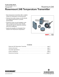 rosemount 248 temperature transmitter product data