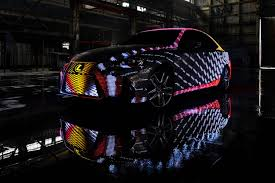 lexus sriracha edition lexus stuck 42 000 led lights on a car to create this dazzling