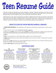 the resume exles resume for high school student with no work experience