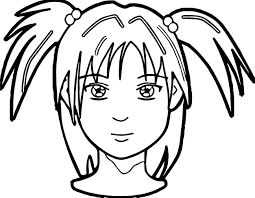 anime face coloring page wecoloringpage