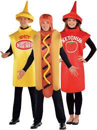 adults american food costume dog sauce fancy dress mens ladies