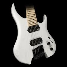 fanned fret 7 string legator ghost ghfb7 fanned fret 7 string washed white the music zoo