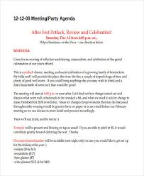 Dinner Party Agenda - 56 agenda templates and examples free u0026 premium templates