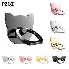 metal cat ring holder images Pzoz 360 degree metal finger ring holder cat love glitter diamond jpg