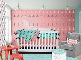 Pink And Green Crib Bedding Sailor Crib Bedding Coral Navy Mint Green Pink