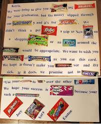 candy story how to make a candy letter for a graduate graduation ideas gift