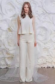 robe de mari e chagne tendance robe de mariée 2017 2018 une mariée en pantalon ça