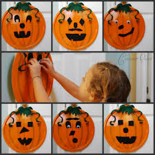 Halloween Craft Kids - diy halloween craft pizza pan pumpkin craft for kids and under 3