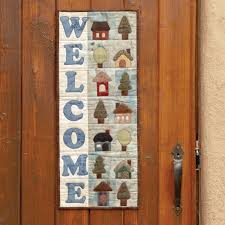 go welcome home wall hanging pattern accuquilt