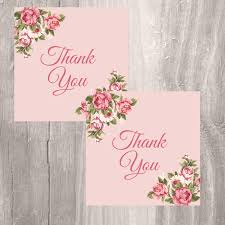 thank you tags printable floral pink favor tags instant download