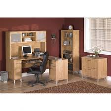 Bush Desks With Hutch Bush Somerset 60 L Shaped Desk Hutch Package Maple Cross Ships