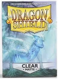 mad al dragon shield matte clear standard size sleeves 100ct