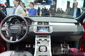 range rover pink interior range rover evoque sw1 interior at the 2014 paris motor show
