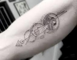 geometric line tattoos by los angeles artist dr