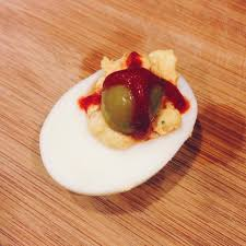 halloween deviled egg eyeballs recipe kitchenbowl