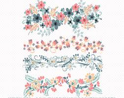 Flower Design For Scrapbook Floral Border Etsy