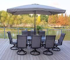 Textilene Patio Furniture by Amazon Com 9pc Cast Aluminum Patio Dining Furniture Set With